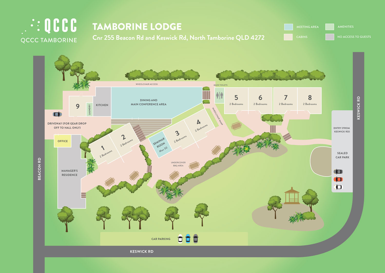 Site Plan Tamborine Lodge