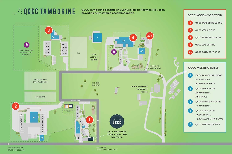 QCCC Tamborine Site Map