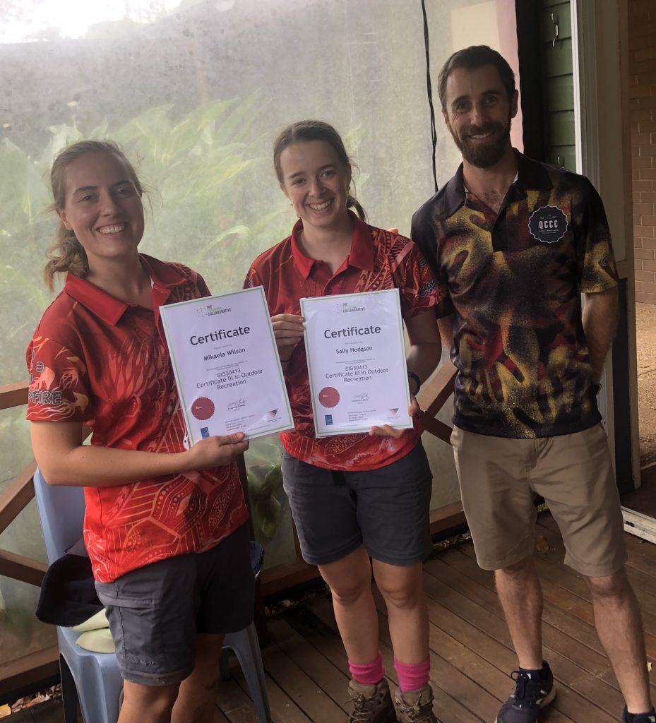 Graduates from the Queensland Outdoor Recreation Centre Internship program